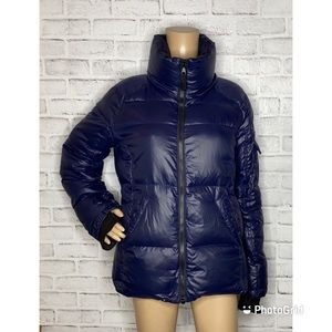 S13 quilted down puffer coat